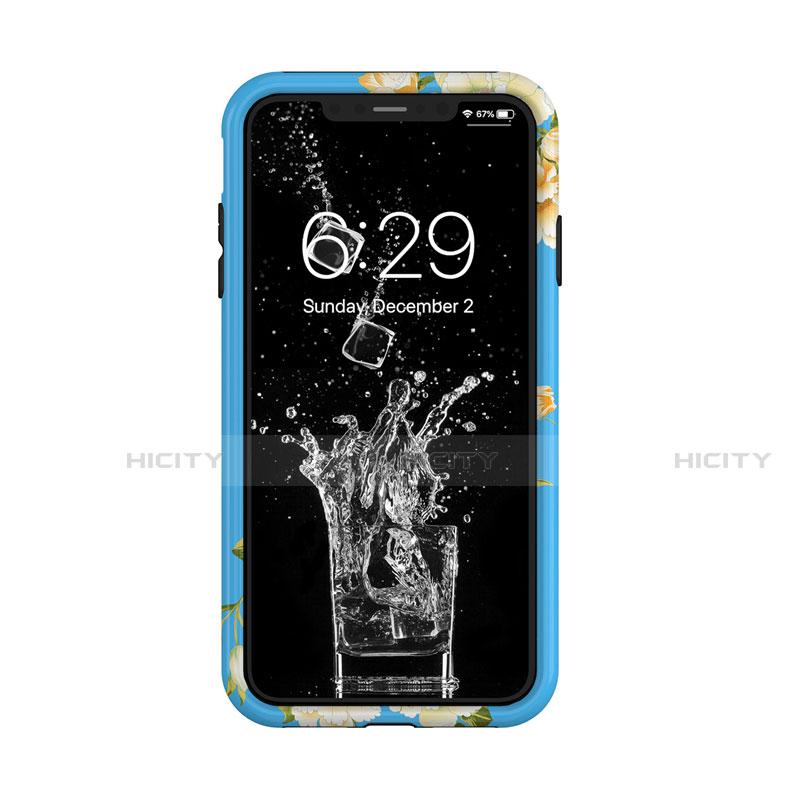 Apple iPhone X用ハイブリットバンパーケース プラスチック 兼シリコーン カバー 前面と背面 360度 フル アップル