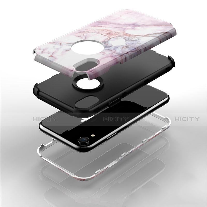 Apple iPhone XR用ハイブリットバンパーケース プラスチック 兼シリコーン カバー 前面と背面 360度 フル アップル