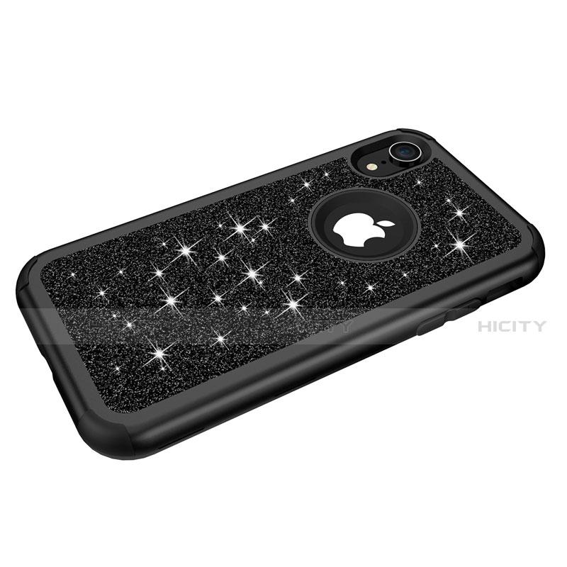 Apple iPhone XR用ハイブリットバンパーケース ブリンブリン カバー 前面と背面 360度 フル アップル
