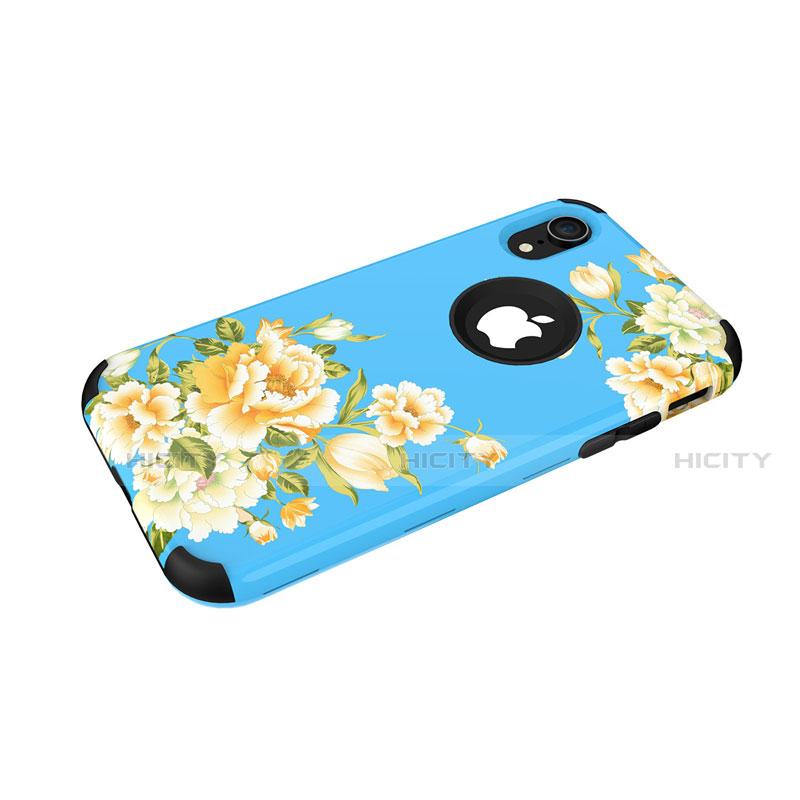 Apple iPhone XR用ハイブリットバンパーケース プラスチック 兼シリコーン カバー 前面と背面 360度 フル U01 アップル