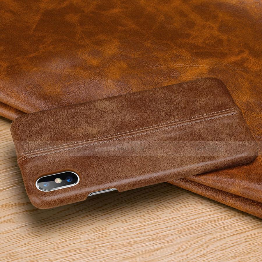 Apple iPhone Xs用ケース 高級感 手触り良いレザー柄 S11 アップル