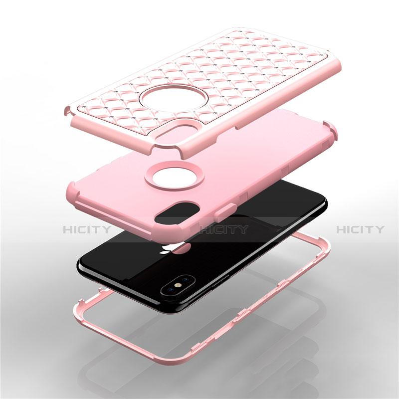 Apple iPhone Xs用ハイブリットバンパーケース ブリンブリン カバー 前面と背面 360度 フル アップル