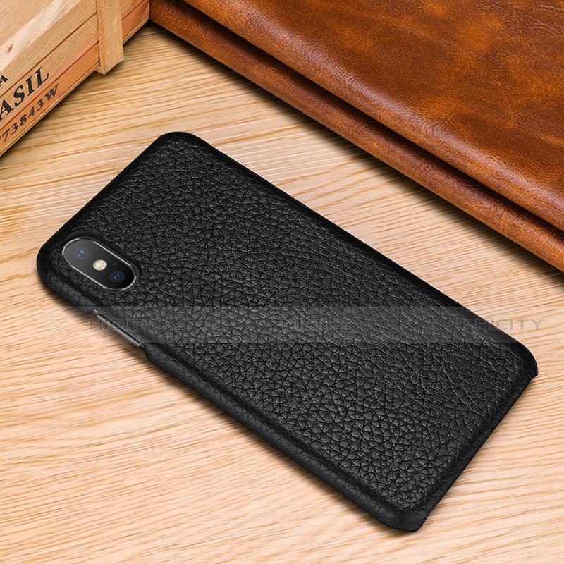 Apple iPhone Xs用ケース 高級感 手触り良いレザー柄 S10 アップル