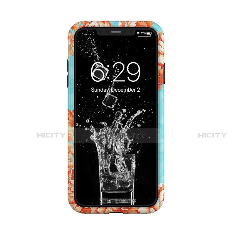 Apple iPhone Xs Max用ハイブリットバンパーケース プラスチック 兼シリコーン カバー 前面と背面 360度 フル アップル