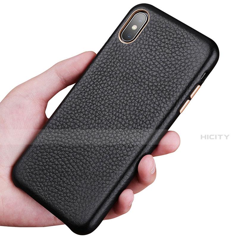 Apple iPhone Xs Max用ケース 高級感 手触り良いレザー柄 S14 アップル