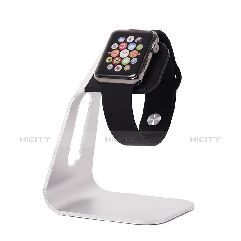 Apple iWatch 3 38mm用スタンド 充電スタンド 充電クレードル 両用 C02 アップル シルバー