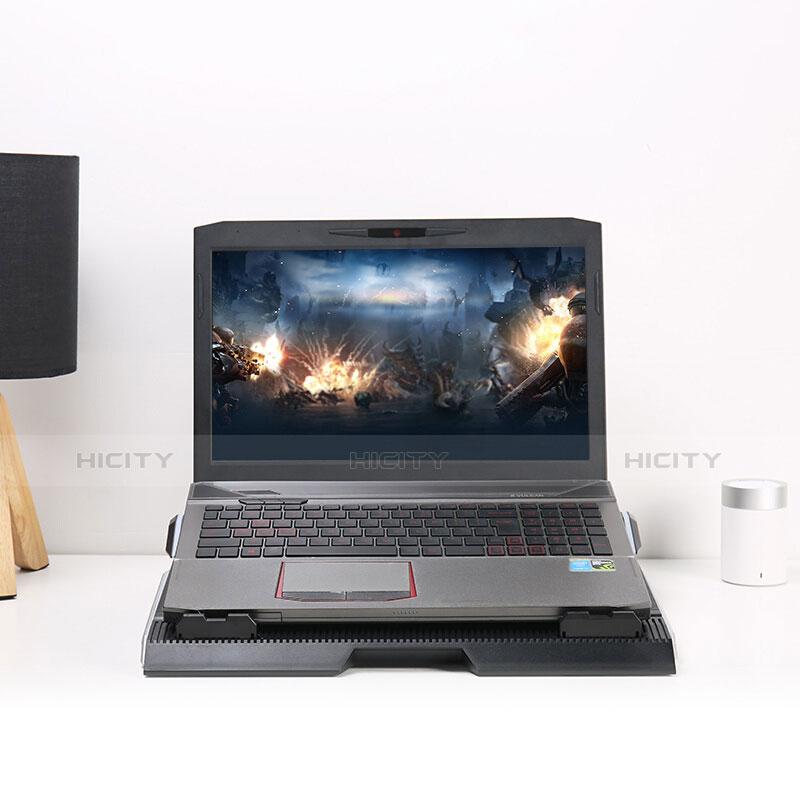 Apple MacBook Pro 13 インチ用ノートブックホルダー クーラー 冷却パッド ファン ラップトップスタンド 9インチ〜17インチ L01 アップル ブラック