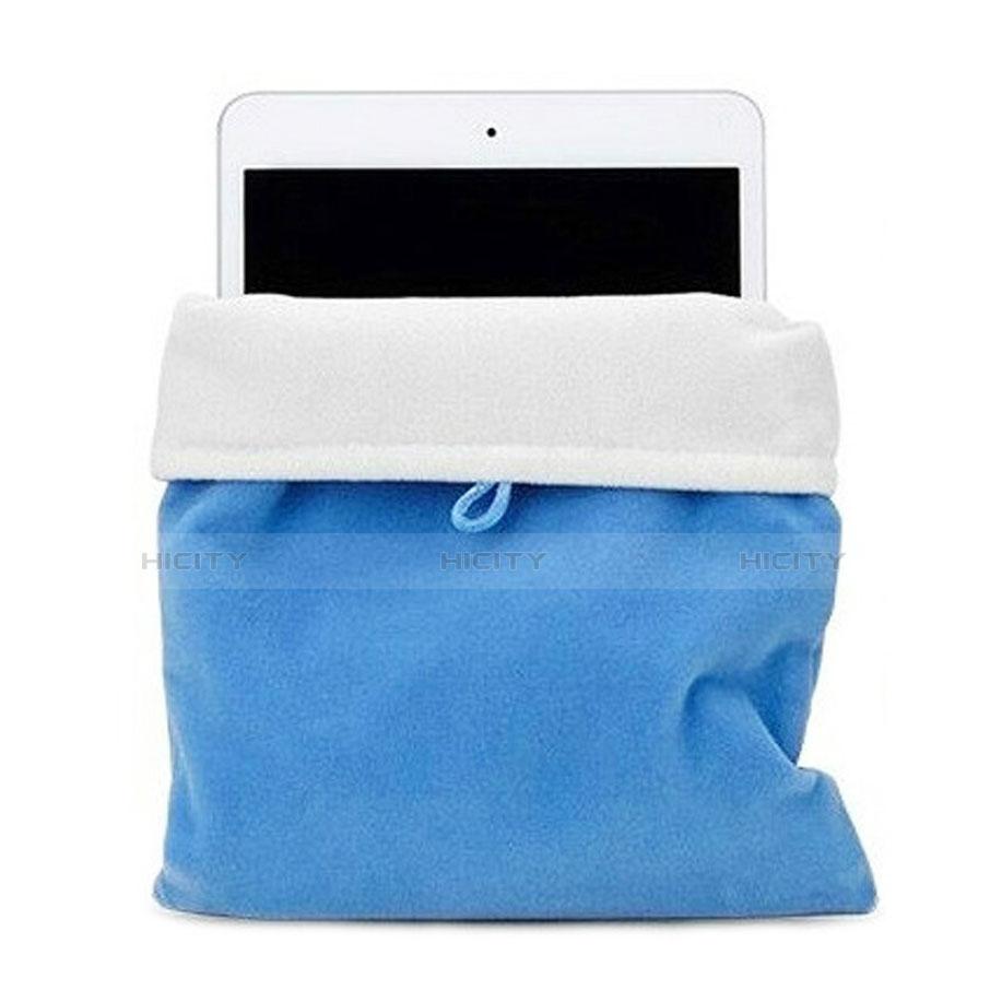 Apple New iPad Pro 9.7 (2017)用ソフトベルベットポーチバッグ ケース アップル ブルー