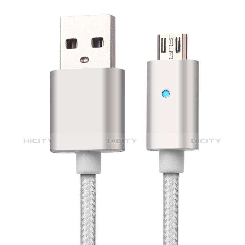 USB 2.0ケーブル 充電ケーブルAndroidユニバーサル A08 シルバー