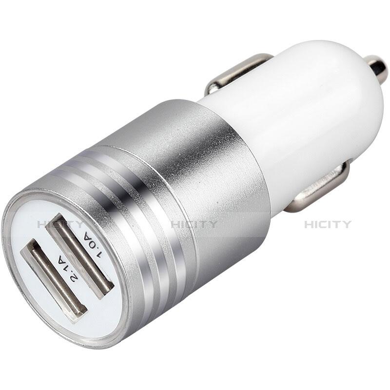 車載充電器3.1A USB電源2ポート カーチャージャー 急速充電 U04 ホワイト