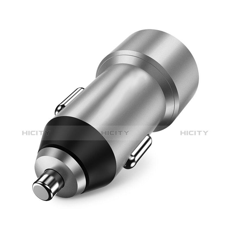 車載充電器3.4A USB電源2ポート カーチャージャー 急速充電 U02 シルバー