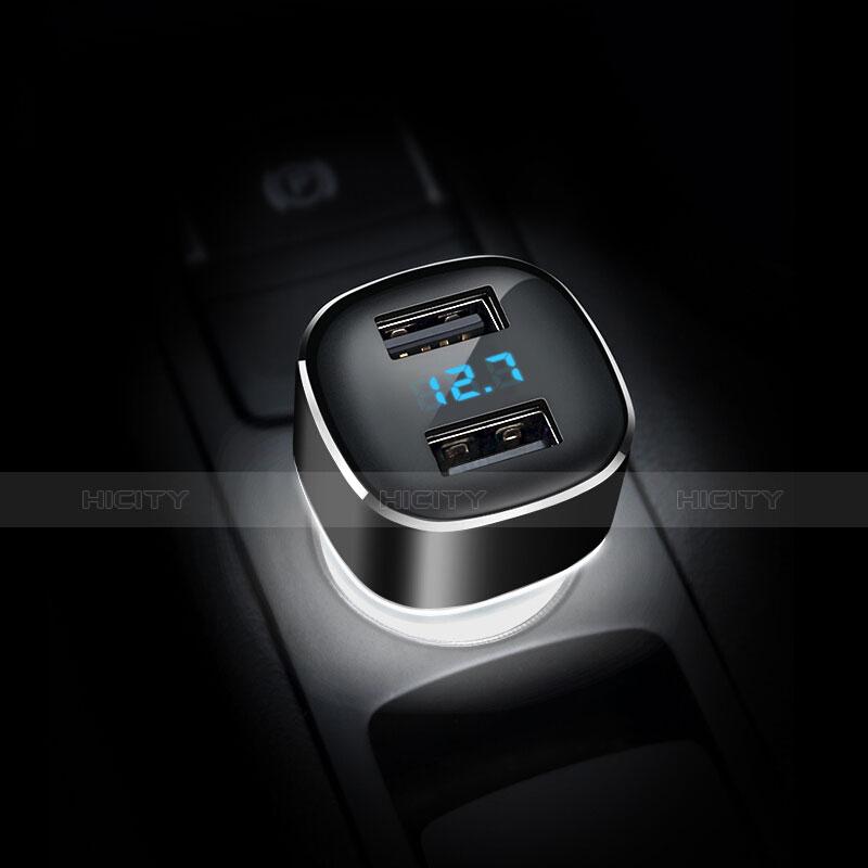 車載充電器4.8A USB電源2ポート カーチャージャー 急速充電 ブラック