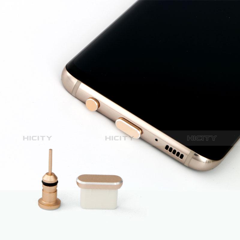 アンチ ダスト プラグ キャップ ストッパー USB Android Type-Cユニバーサル シルバー