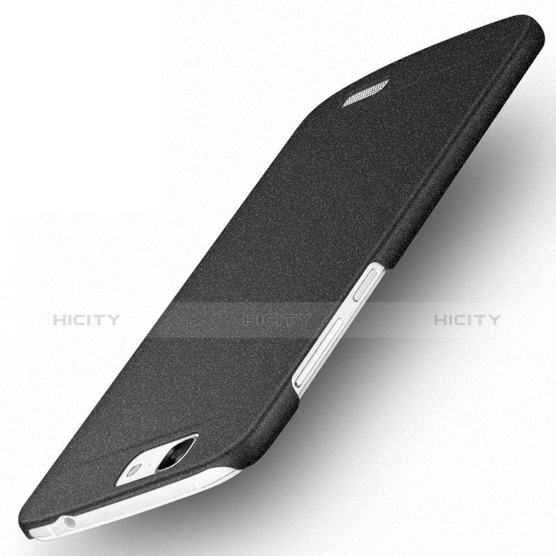 Huawei Ascend G7用ハードケース カバー プラスチック ファーウェイ ブラック
