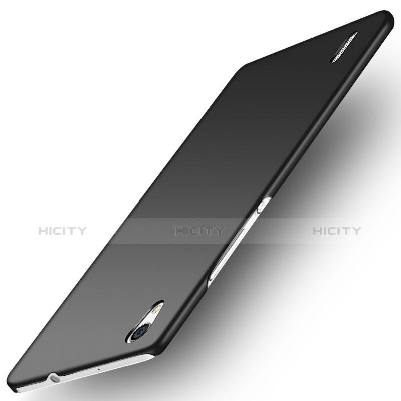 Huawei Ascend P7用ハードケース カバー プラスチック ファーウェイ ブラック