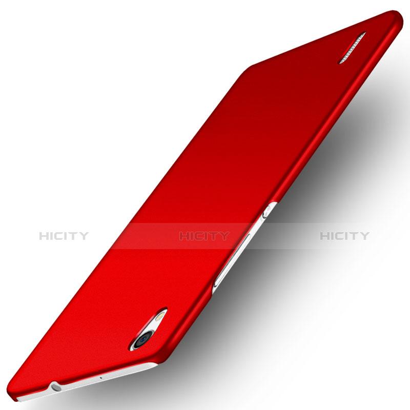 Huawei Ascend P7用ハードケース プラスチック 質感もマット M02 ファーウェイ レッド
