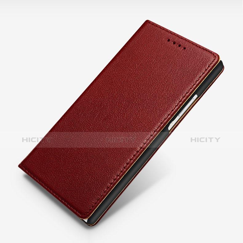 Huawei Ascend P7用手帳型 レザーケース スタンド L02 ファーウェイ レッド