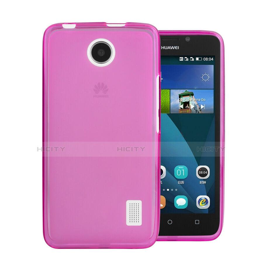 Huawei Ascend Y635 Dual SIM用極薄ソフトケース シリコンケース 耐衝撃 全面保護 クリア透明 ファーウェイ ピンク
