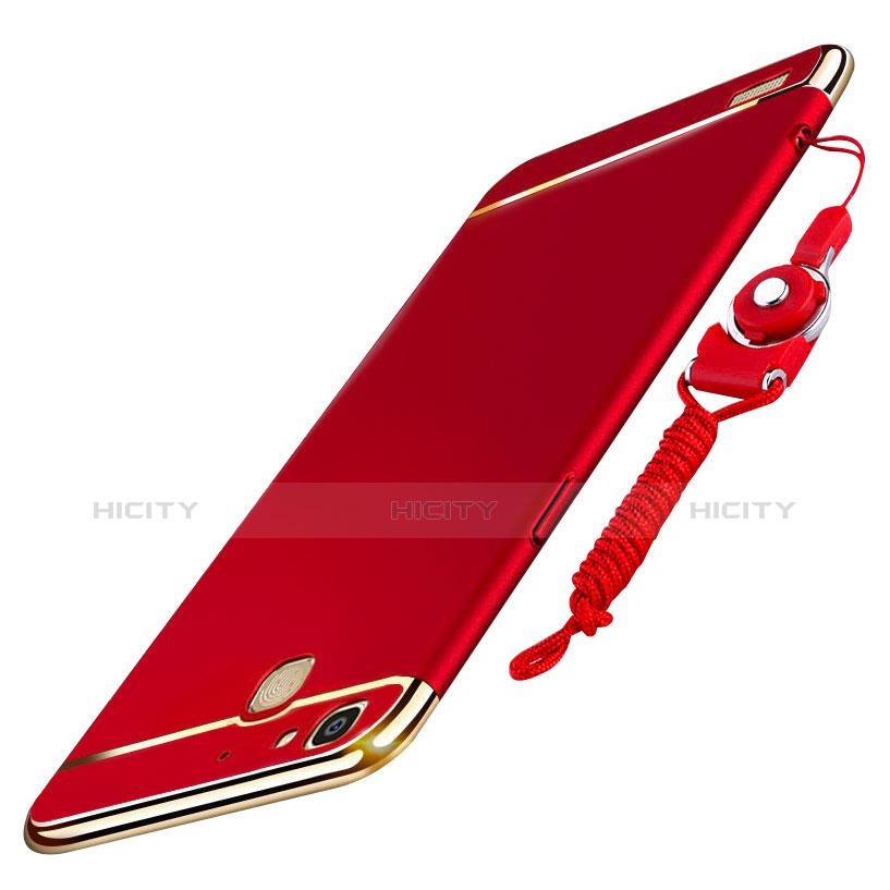 Huawei Enjoy 5S用ケース 高級感 手触り良い メタル兼プラスチック バンパー 亦 ひも ファーウェイ