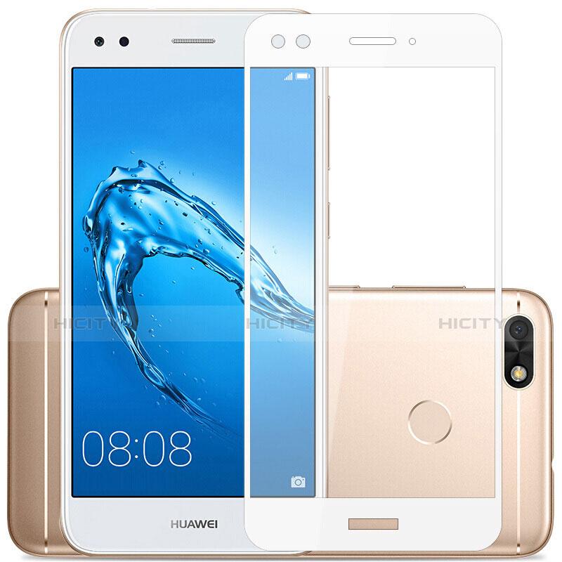Huawei Enjoy 7用強化ガラス フル液晶保護フィルム ファーウェイ ホワイト