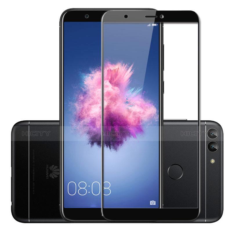 Huawei Enjoy 7S用強化ガラス フル液晶保護フィルム ファーウェイ ブラック