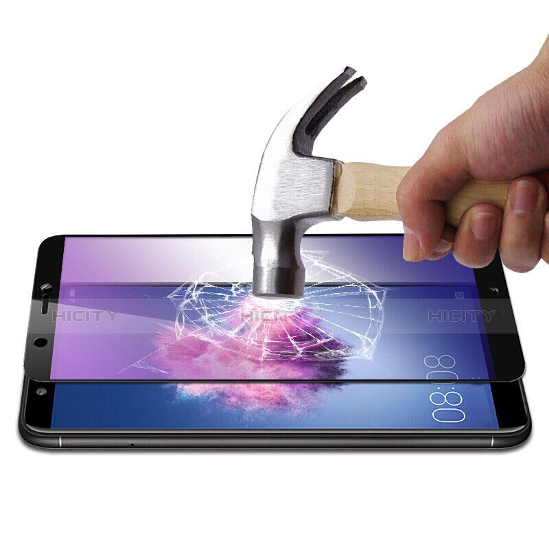 Huawei Enjoy 7S用強化ガラス フル液晶保護フィルム F02 ファーウェイ ブラック