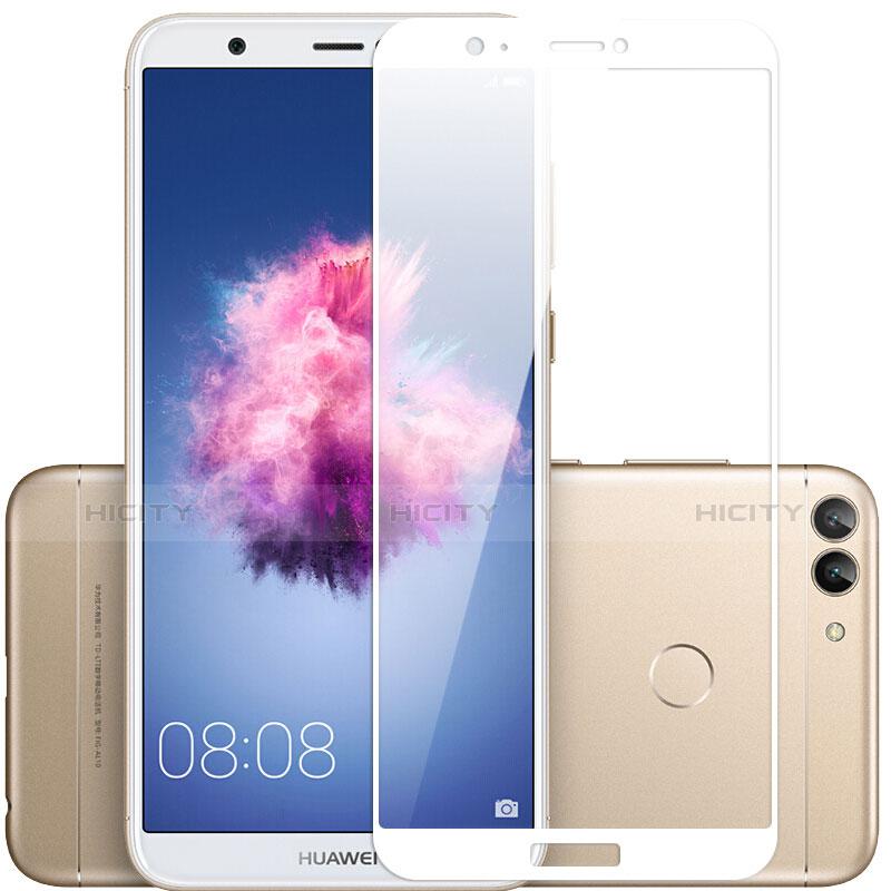 Huawei Enjoy 7S用強化ガラス フル液晶保護フィルム F03 ファーウェイ ホワイト