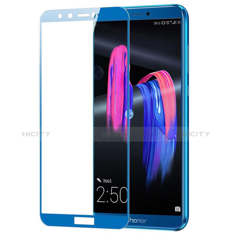 Huawei Honor 9 Lite用強化ガラス フル液晶保護フィルム F03 ファーウェイ ネイビー
