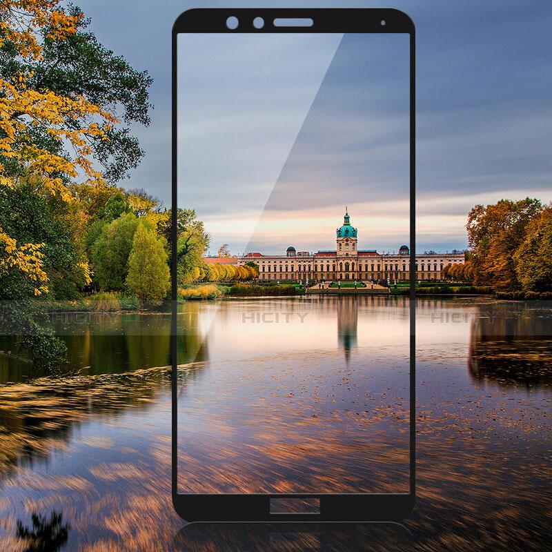 Huawei Honor Play 7X用強化ガラス フル液晶保護フィルム F02 ファーウェイ ブラック