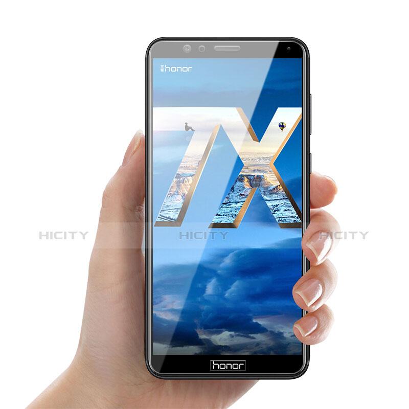 Huawei Honor Play 7X用強化ガラス フル液晶保護フィルム F04 ファーウェイ ブラック