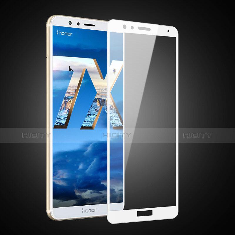 Huawei Honor Play 7X用強化ガラス フル液晶保護フィルム F04 ファーウェイ ホワイト