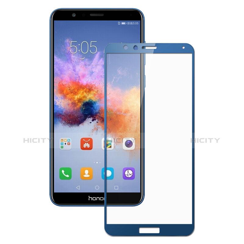 Huawei Honor Play 7X用強化ガラス フル液晶保護フィルム F05 ファーウェイ ネイビー