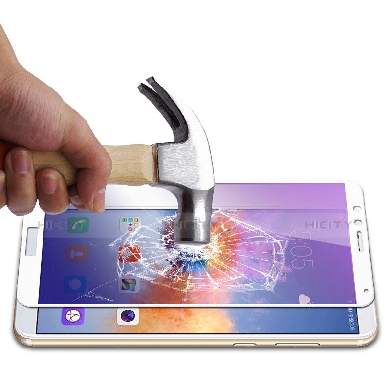 Huawei Honor Play 7X用強化ガラス フル液晶保護フィルム F05 ファーウェイ ホワイト