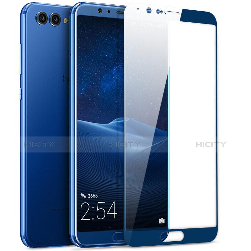 Huawei Honor V10用強化ガラス フル液晶保護フィルム ファーウェイ ネイビー