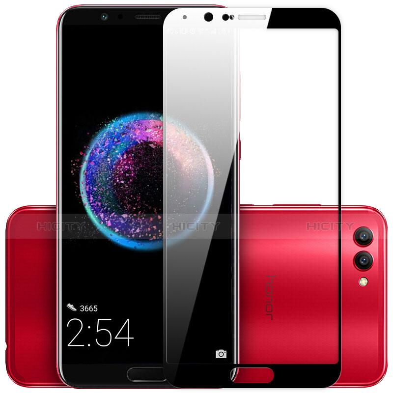 Huawei Honor V10用強化ガラス フル液晶保護フィルム ファーウェイ ブラック
