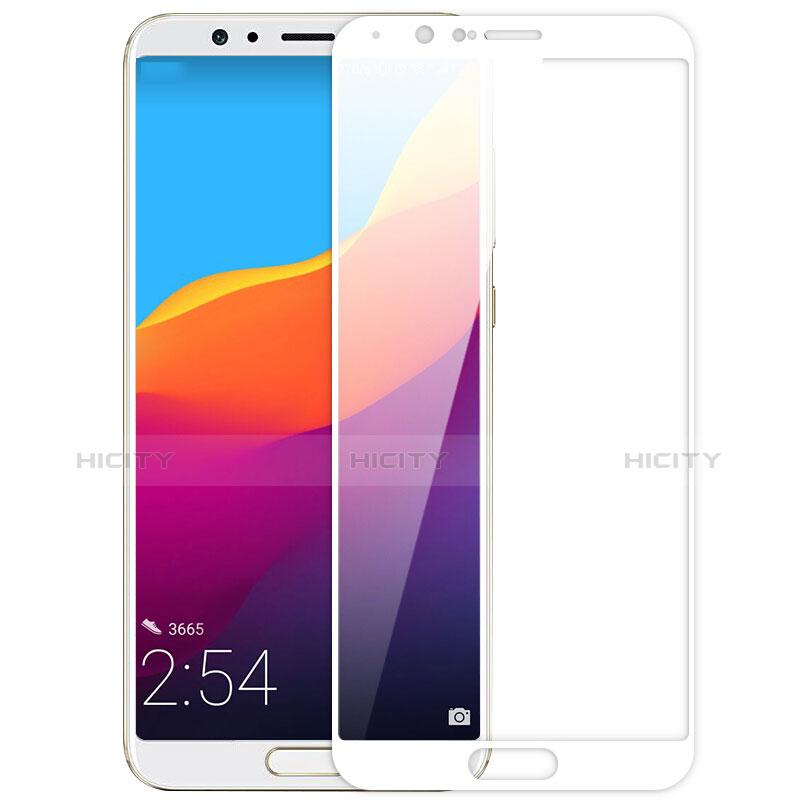 Huawei Honor V10用強化ガラス フル液晶保護フィルム ファーウェイ ホワイト