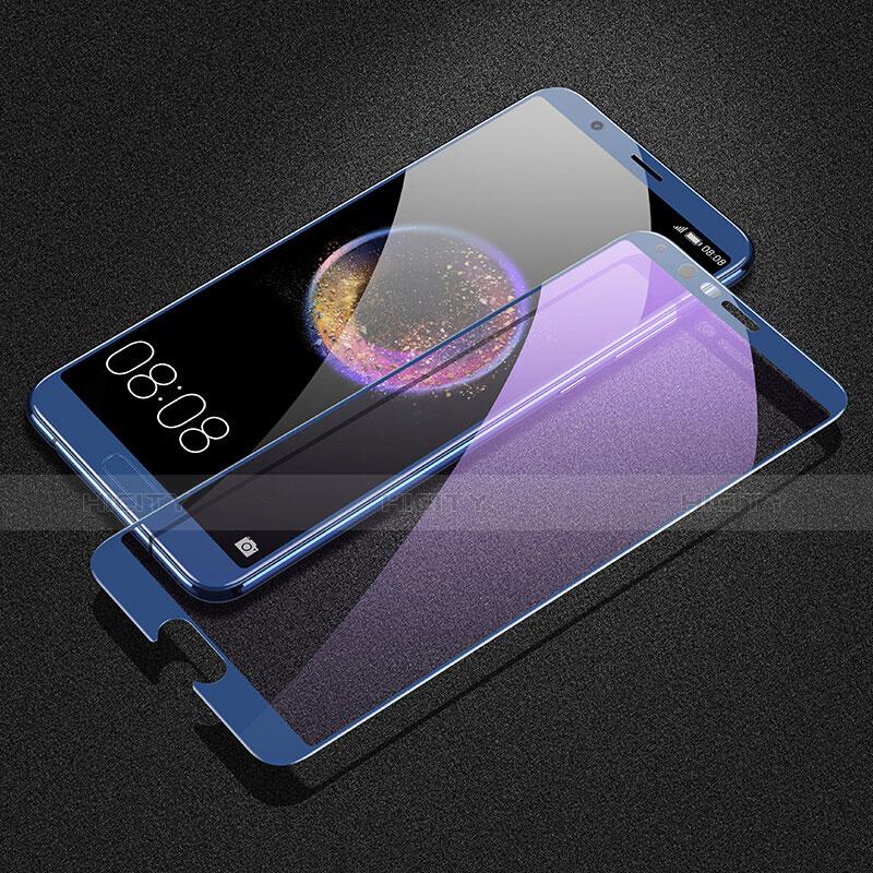 Huawei Honor V10用強化ガラス フル液晶保護フィルム F03 ファーウェイ ネイビー