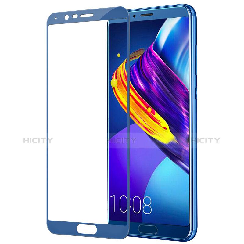 Huawei Honor V10用強化ガラス フル液晶保護フィルム F04 ファーウェイ ネイビー