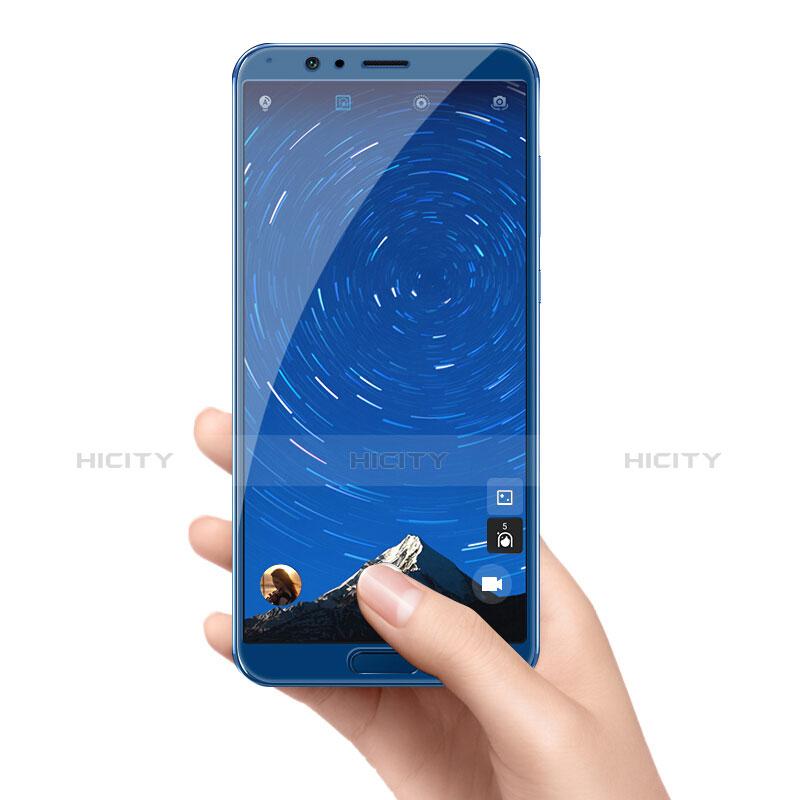 Huawei Honor V10用強化ガラス フル液晶保護フィルム F05 ファーウェイ ネイビー