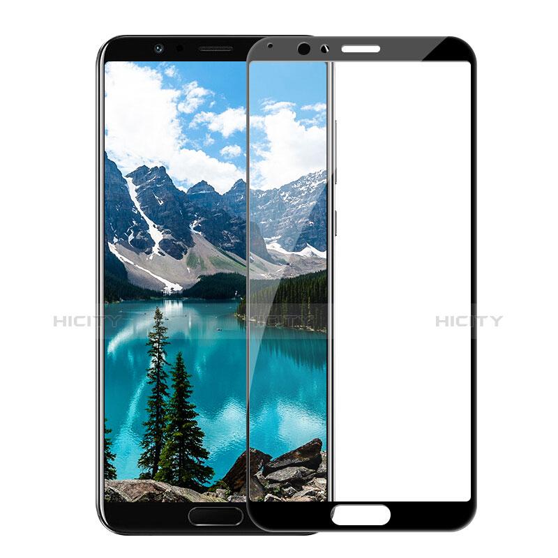 Huawei Honor V10用強化ガラス フル液晶保護フィルム F05 ファーウェイ ブラック