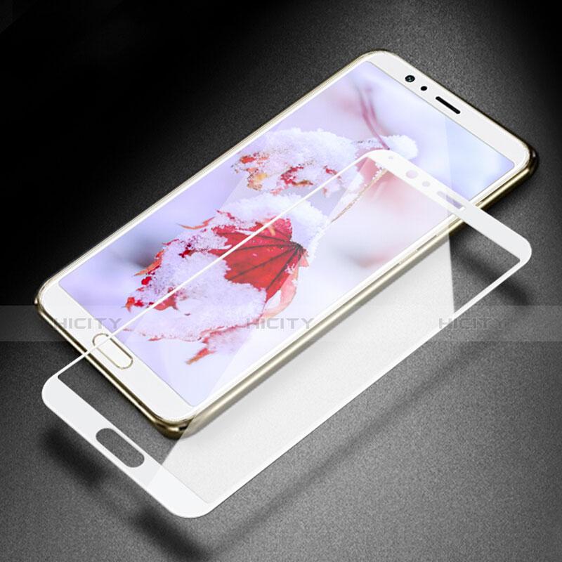 Huawei Honor V10用強化ガラス フル液晶保護フィルム F05 ファーウェイ ホワイト