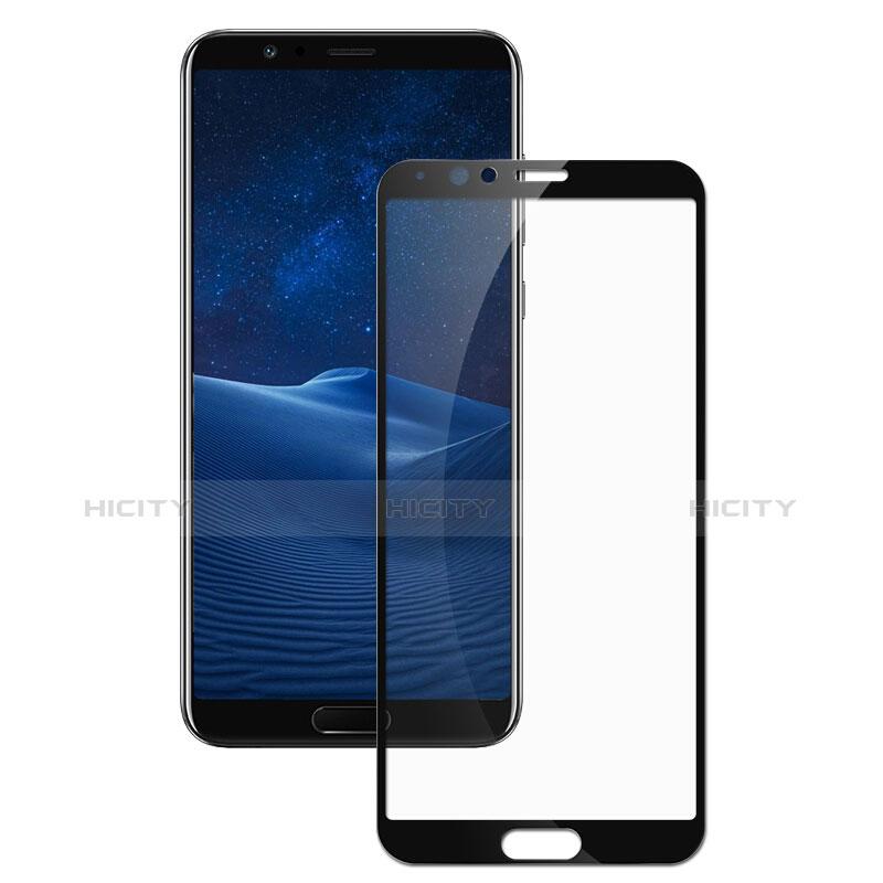 Huawei Honor V10用強化ガラス フル液晶保護フィルム F07 ファーウェイ ブラック