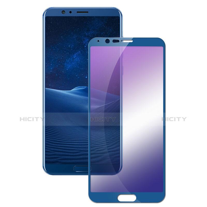Huawei Honor V10用アンチグレア ブルーライト 強化ガラス 液晶保護フィルム B01 ファーウェイ ネイビー
