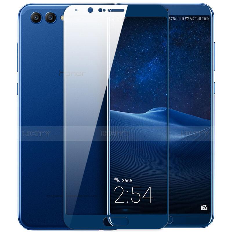 Huawei Honor View 10用強化ガラス フル液晶保護フィルム ファーウェイ ネイビー