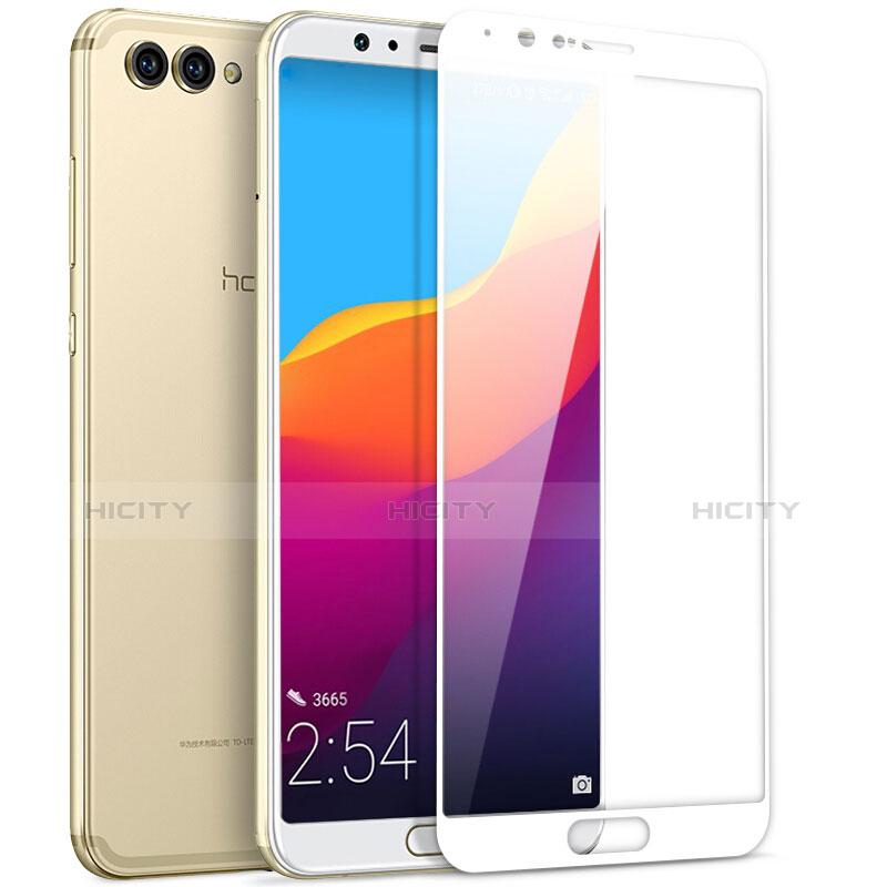 Huawei Honor View 10用強化ガラス フル液晶保護フィルム ファーウェイ ホワイト
