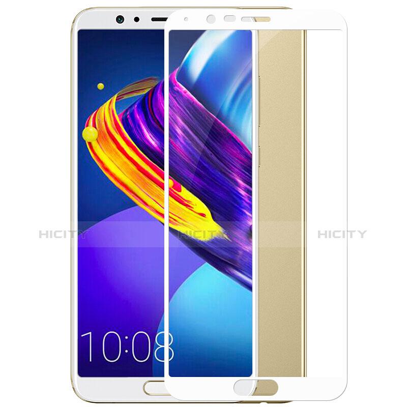 Huawei Honor View 10用強化ガラス フル液晶保護フィルム F04 ファーウェイ ホワイト