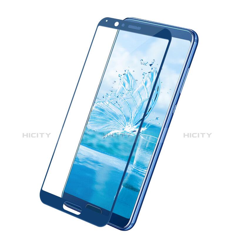 Huawei Honor View 10用強化ガラス フル液晶保護フィルム F05 ファーウェイ ネイビー