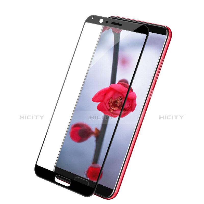 Huawei Honor View 10用強化ガラス フル液晶保護フィルム F05 ファーウェイ ブラック