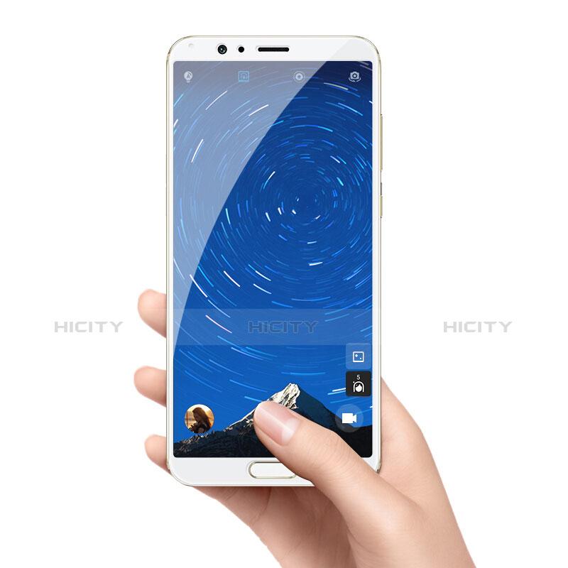 Huawei Honor View 10用強化ガラス フル液晶保護フィルム F05 ファーウェイ ホワイト