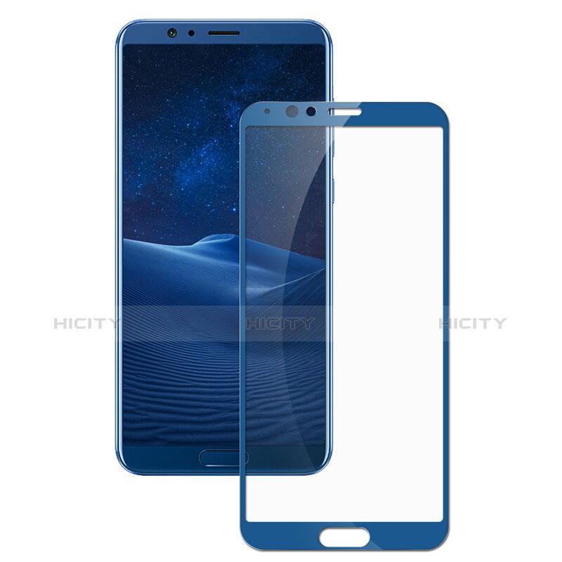 Huawei Honor View 10用強化ガラス フル液晶保護フィルム F07 ファーウェイ ネイビー